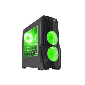 Počítačová skříň Genesis Titan 800 GREEN MIDI (USB 3.0), 4 ventilátory s zeleným podsvícením