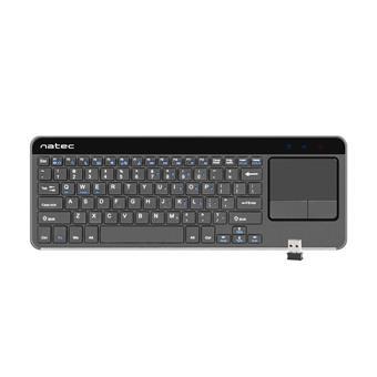 Bezdrátová klávesnice s touch padem pro Smart TV Natec Turbot, hliníkové tělo