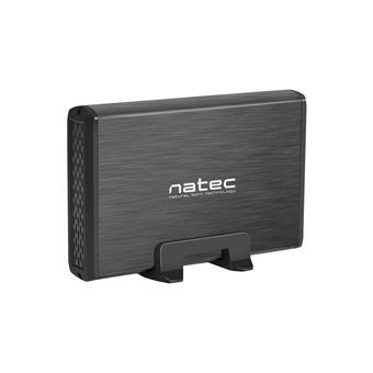 """Externí box pro HDD 3,5"""" USB 3.0 Natec Rhino, černý,  včetně napájecího adaptéru"""