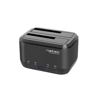 """Dokovací stanice pro HDD 2,5""""/3,5"""" USB 3.0 Natec Kangaroo Dual, funkce klonování, napájecí adaptér"""