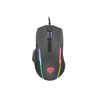 Tichá herní myš Genesis Xenon 220, RGB podsvícení, software, 6400 DPI