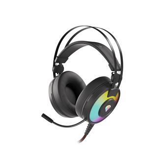 Herní stereo sluchátka Genesis NEON 600, RGB podsvícení, černé