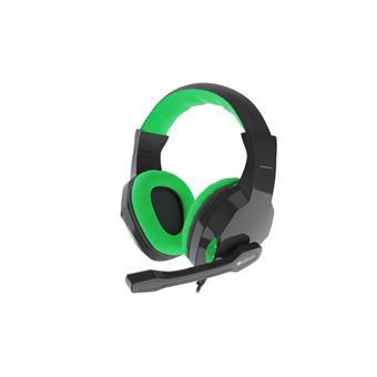 Herní stereo sluchátka Genesis Argon 100,zelená, 1x jack 4-pin
