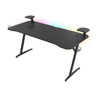 Genesis Holm 510 RGB - herní stůl s RGB podsvícením, 160x75cm, 3xUSB 3.0, bezdrátová nabíječka