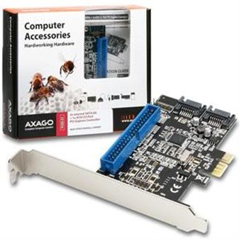 AXAGO PCIe řadič 2x int.SATAIII 6G + ATA133 RAID