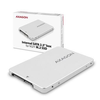 "AXAGON RSS-M2SD, SATA - M.2 SATA SSD, interní 2.5"" ALU box"