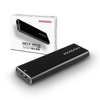 AXAGON EEM2-U3, USB3.0 - M.2 SATA SSD hliníkový box, délka 30 až 80 mm
