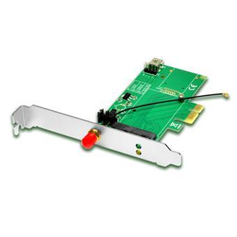 AXAGON PCEM-E1, PCIe - mini PCIe adaptér, SMA konektor