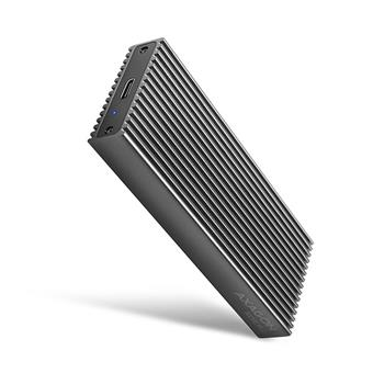 AXAGON EEM2-XR, USB-C 3.2 Gen 2 - M.2 NVMe SSD kovový RADIATOR box sdvěma chladiči