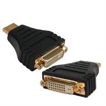 Kab. redukce HDMI na DVI, M/F,zl. kontakty, černá