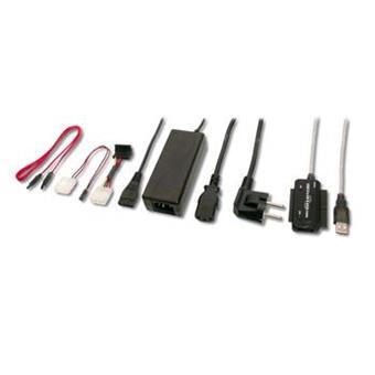 PremiumCord USB 2.0 - IDE + SATA adapter s kabelem a přídavným zdrojem