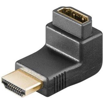 PremiumCord Adapter HDMI M/F, pravý úhel - opačný