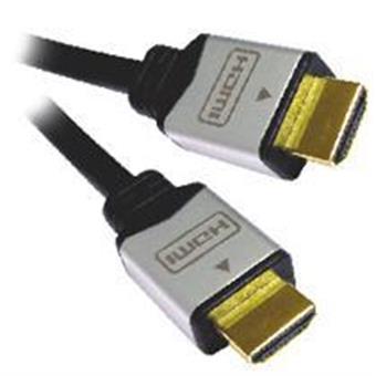 PremiumCord kabel HDMI M/M, zlac.a kovové HQ, 5m