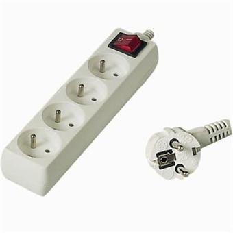 Prodlužovací přívod 230V, 10m,4 zásuvky + vypínač