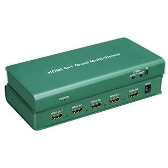 PremiumCord HDMI 4 vstupy - 1 výstup, multi zobrazovací systém