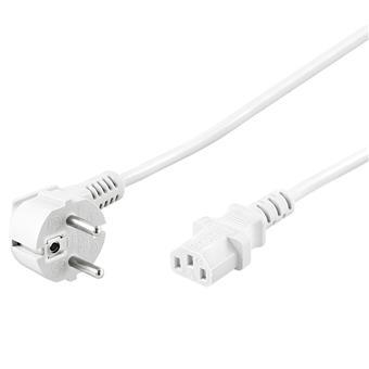 PremiumCord Kabel síťový 230V k počítači 2m bílý