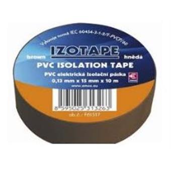 PremiumCord Izolační páska PVC 15/10 hnědá