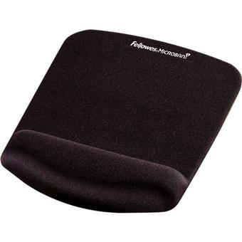 Podložka pod myš a zápěstí Fellowes PlushTouch černá