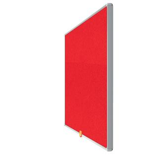 """Textilní nástěnka Nobo Widescreen 32"""", červená"""