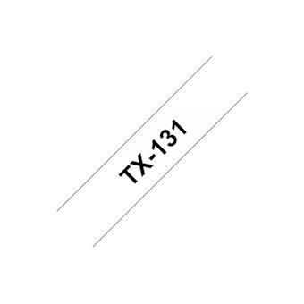 TX-131, černý tisk / průhledný podklad, 12 mm