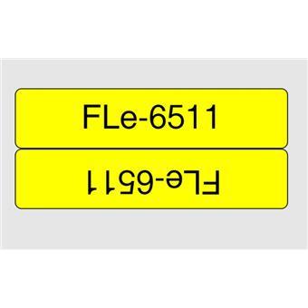 Brother FLE-6511, erná na žluté, 21 mm šířka