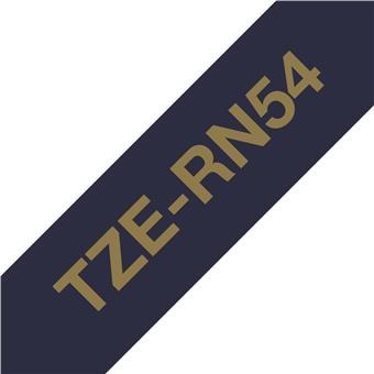 Brother TZE-RN54, zlatá na námoř.modré, 24 mm, textilní páska