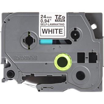 Brother TZE-SL251, bílá/černá 24mm, samolaminovací