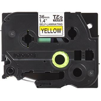 Brother TZE-SL661, žlutá/černá, 36mm, samolaminovací