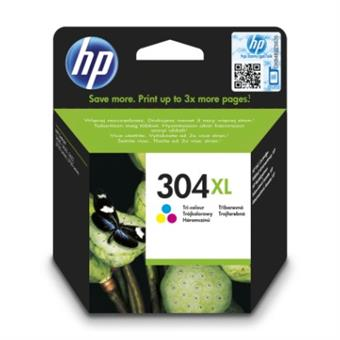 HP 304XL Tri-color Original Ink Cartridge,N9K07AE