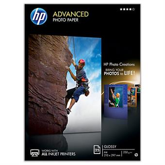 HP Advanced Photo Paper,  lesk, 25 listů A4