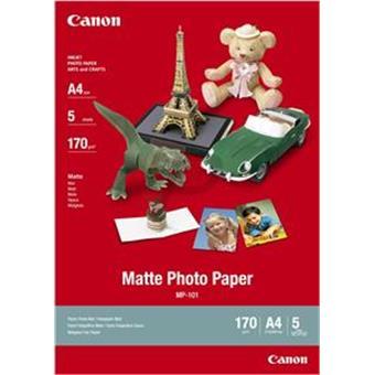 Canon MP-101, A4 fotopapír matný, 5 ks, 170g/m