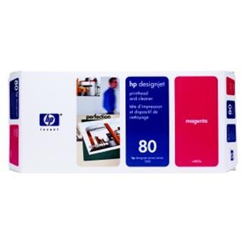 HP no 80 - červená tisk. a čistící hlava, C4822A