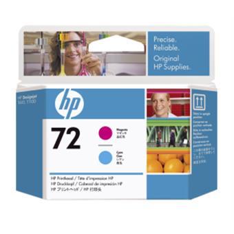 HP no 72 - purpurová a azurová tisk. hlava, C9383A