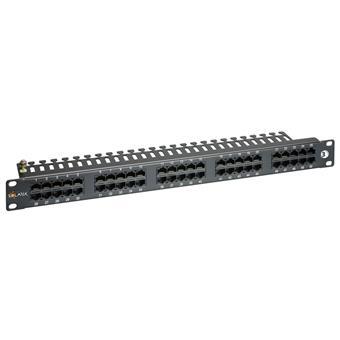 """19"""" ISDN panel Solarix 50 x RJ45 černý 1U"""