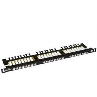 "19"" Patch pan. Solarix 24xRJ45 CAT6 UTP černý 0,5U"