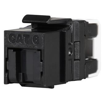 Keystone Solarix CAT6 UTP RJ45 černý pro kleště