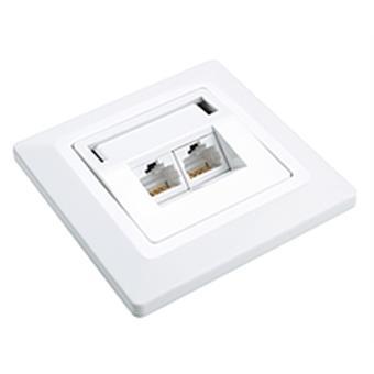 Zásuvka Solarix CAT6 UTP 2 x RJ45 pod omítku bílá