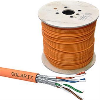 Instalační kabel Solarix CAT7A SSTP LSOHFR B2ca s1 d1 a1 1200 MHz 500m/cívka