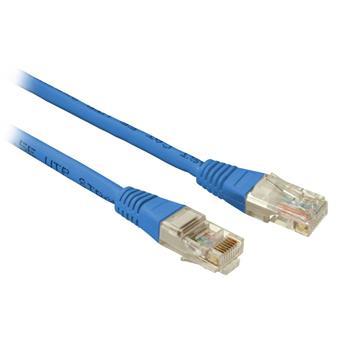 SOLARIX patch kabel CAT5E UTP PVC 3m modrý