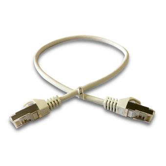 DATACOM Patch cord S/FTP CAT6A 0,5m šedý