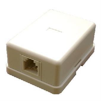 DATACOM Tel. jednozásuvka nad omítku - 1 x RJ11