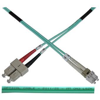Optický patch kabel duplex LC-SC 50/125 MM 1m OM3