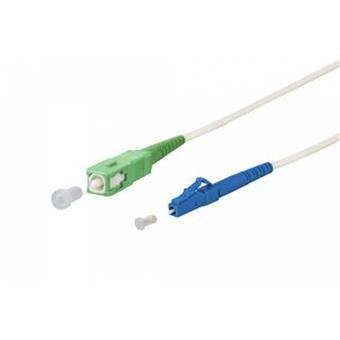 SC/APC - LC/UPC simplex 9/125 SM 2m arm.bílý 3mm B3 LSZH