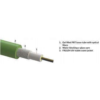 4vl. 9/125um kabel gelový FRLSZH Dca CLT zelený