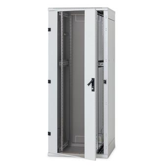 Stojanový rozvaděč 42U (š)600x(h)800 perf.dveře,polocylindr.vložka zámek, jedineč.klíč