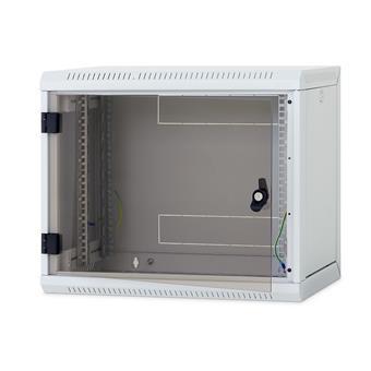 Nástěnný rack RUA 15U/600mm odn.boč+skl.dv.