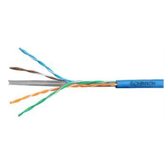 Kabel U/UTP Cat.6 4x2xAWG24 300 MHz, LS0H modrý, Eca