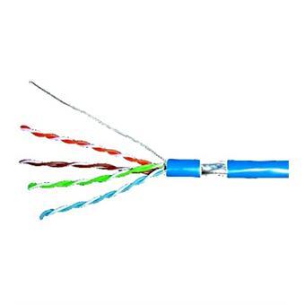Kabel F/UTP Cat.5e 4x2xAWG24, LS0H plášt modrý, box 305m