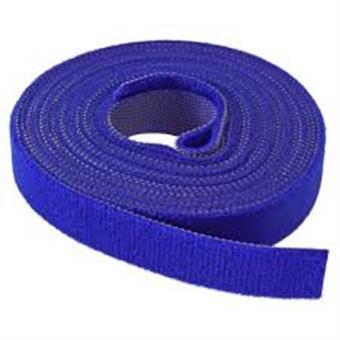 Vazací páska na suchý zip, 16 mm, 4 m, modrá
