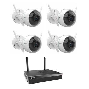 EZVIZ 4 Channels Wireless Security Kit, X5S + 4x C3WN